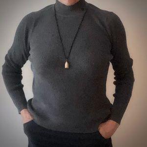 Ralph Lauren Cotton Dark Gray Turtleneck Sweater